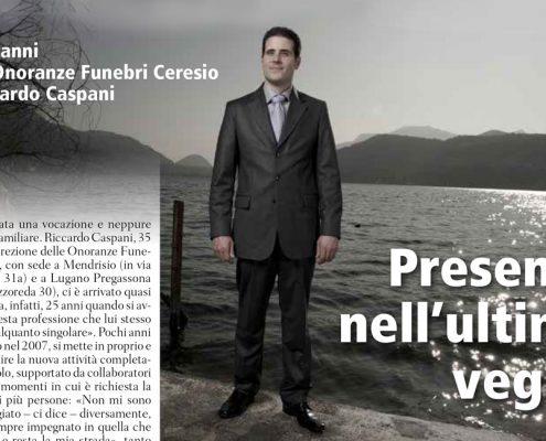 I dieci anni delle Onoranze Funebri Ceresio di Riccardo Caspani